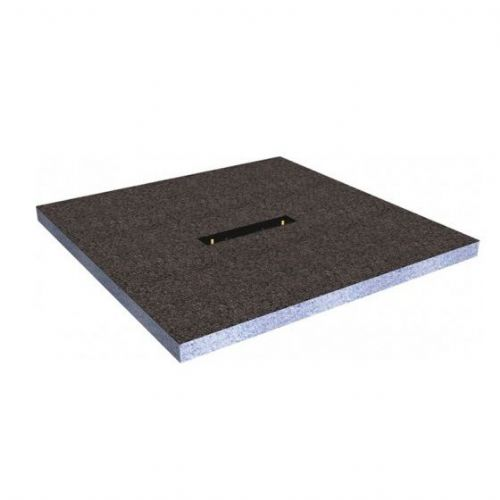 Abacus Elements Linear Square Shower Tray With Centre Drain - 1500mm Wide